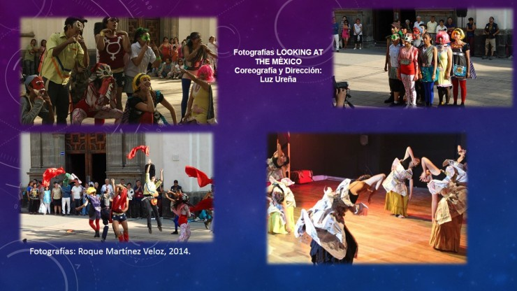 """La obra """"Looking at the México"""" de la Comunidad Arte Suré tiene la finalidad de llevar a través de la danza, la voz con un grito primordialmente artístico; provocar y crear la reflexión y la conciencia en los ciudadanos sobre el país, resalta Ureña Jiménez."""