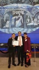 Miguel Ángel Mayo Morales, Jaime Arizmendi Presidente de la Asociación Comunicadores por la Unidad A.C. y Patricia Pérez