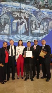 Durante la entrega de Reconocimientos a la Trayectoria Profesional en Comunicación 2018