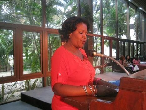 Secretaria General del Sindicato de la Cultura en la provincia, Janet Despaigne Castillo