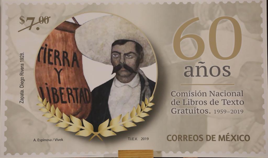 estampilla postal del Caudillo del Sur, Emiliano Zapata.