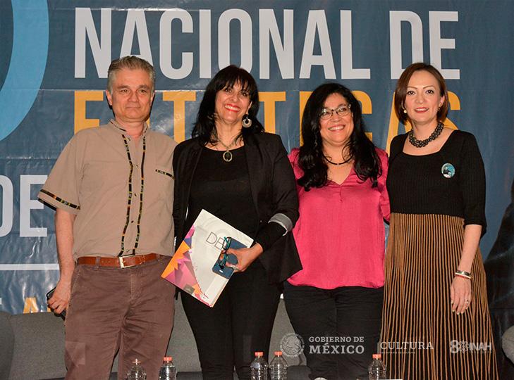 Investigadores Alberto del Castillo, Rebeca Monroy, Claudia Negrete y Mayra Mendoza (moderadora)
