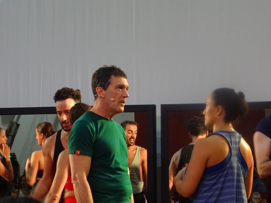 Antonio Banderas y  Marcela Nava, actriz mexicana.