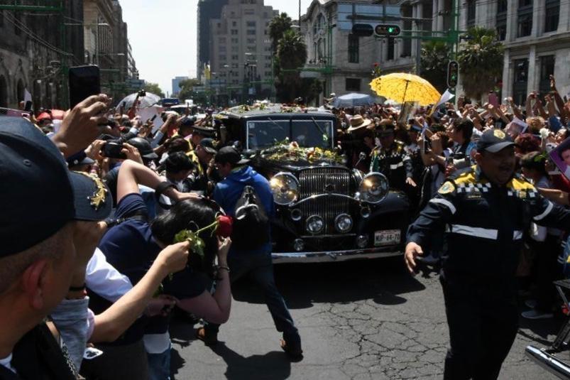 El féretro recorrió diversas calles de la CDMX